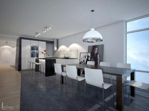 Интерьер кухни в современном стиле Апартаменты