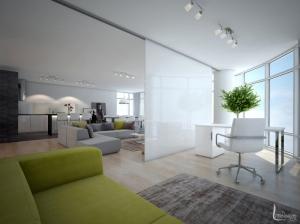 Дизайн интерьера гостиной Апартаменты