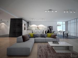 Интерьер гостиной в современном стиле Апартаменты
