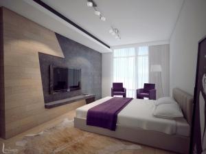 Интерьер спальни в современном стиле Апартаменты