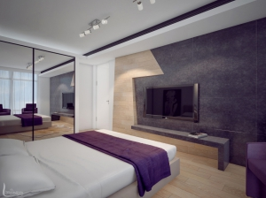 Дизайн интерьера спальни Апартаменты