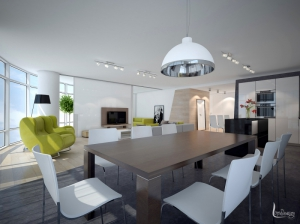 Дизайн интерьера кухни Апартаменты