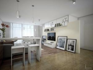 Интерьер апартаментов в современном стиле с мебелью