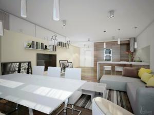 Гостиная в современном стиле Апартаменты