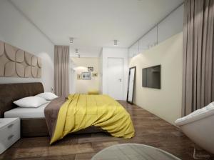 Интерьер спальни современный стиль Апартаменты