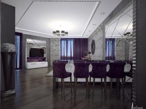 Гостиная+бар квартира в стиле арт-деко