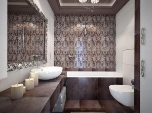 Ванная комната в стиле арт-деко квартира