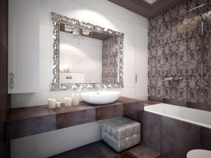 Ванная арт-деко квартира