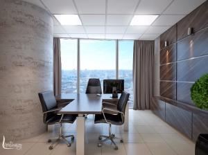 Дизайн интерьера офиса бц Высоцкий