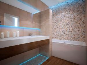 Интерьер ванной комнаты  в таунхаусе