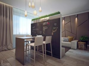 Интерьер квартиры в эко стиле