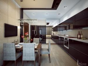интерьер кухни современный стиль квартира