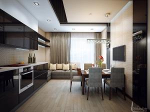 кухня интерьер современный стиль квартира