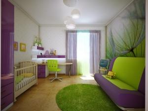 интерьер детской комнаты современный стиль квартира