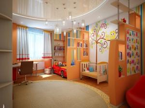 интерьер детской комната для девочки и мальчика