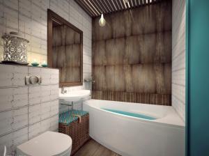Интеьер ванной комнаты лофт