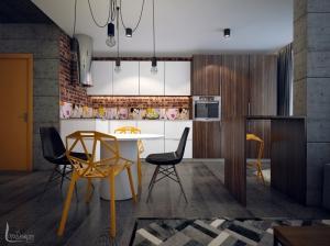 Интерьер кухни современный лофт