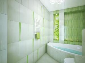 интерьер ванны квартиры с элементами лофт