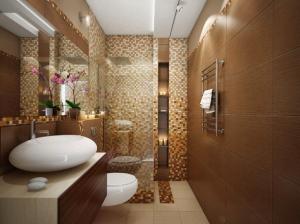 ванная коттеджа современный стиль