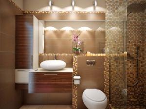 ванная комната коттеджа современный стиль