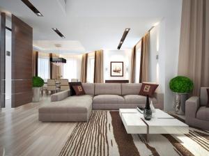 коттедж в современном стиле гостинная
