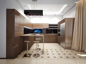 кухня в современном стиле коттедж