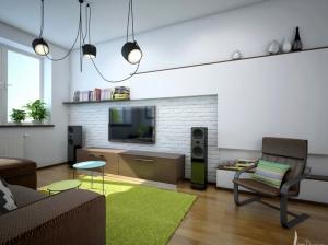 гостиная квартиры в скандинавском стиле