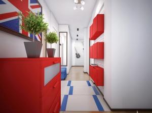интерьер прихожей квартиры в скандинавском стиле