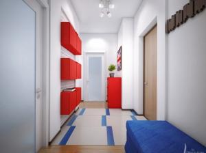 прихожая квартиры в скандинавском стиле