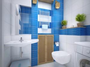 ванная комната квартиры в скандинавском стиле