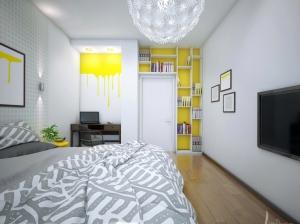 спальня квартиры в скандинавском стиле