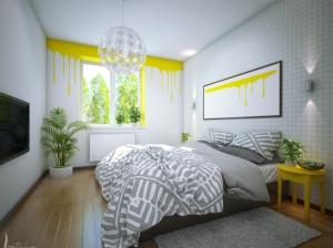 интерьер спальни квартиры в скандинавском стиле