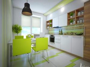 кухня квартиры в скандинавском стиле