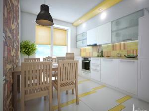 интерьер кухни квартиры в скандинавском стиле
