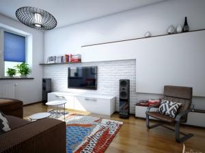 гостиная скандинавский стиль