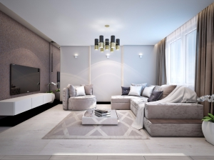 Квартира с элементами арт-деко