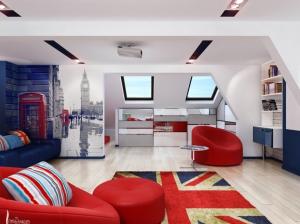 детская комната в британском стиле