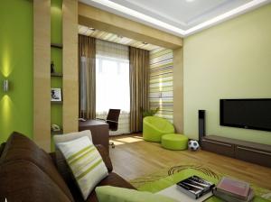 детская комната для мальчика зеленый цвет