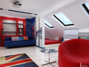 детская комната в британском стиле для мальчика