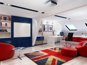 детская комната мальчика в британском стиле