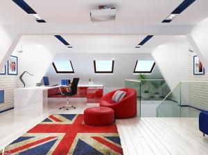 детская комната для мальчика в британском стиле