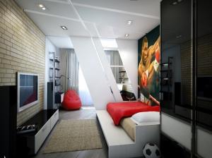 комната для мальчика в современном стиле