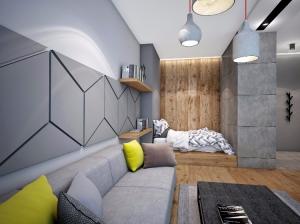 Интерьер однокомнатной квартиры в современном стиле