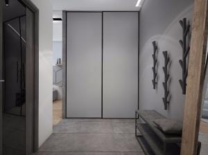 интерьер прихожей квартиры в современном стиле