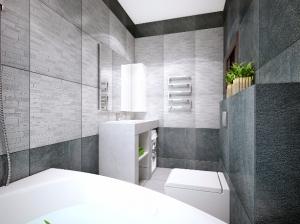 ванная комната однокомнатной квартиры в современном стиле