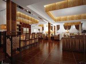 интерьер бара и основного зала ресторана