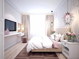 Интерьер спальни квартиры в романтическом стиле