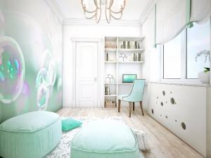 Интерьер детской комнаты квартиры в романтическом стиле