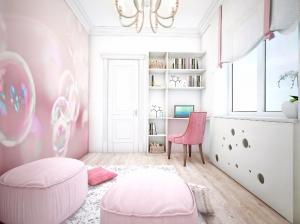 Детская комнаты квартиры в романтическом стиле