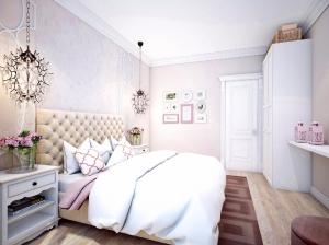 Интерьер спальни в романтическом стиле